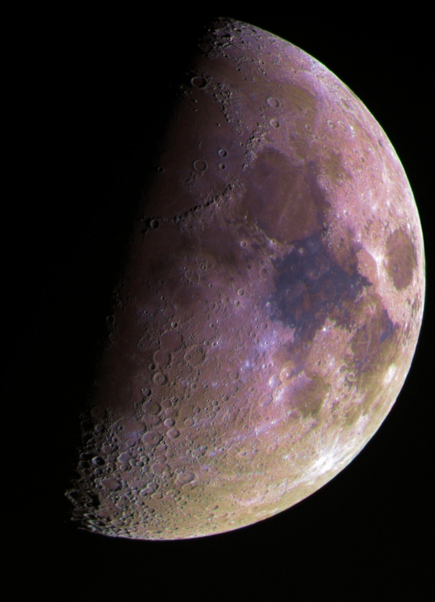 Hubble Palette Moon