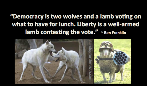 Democracy as defined by Ben Franklin